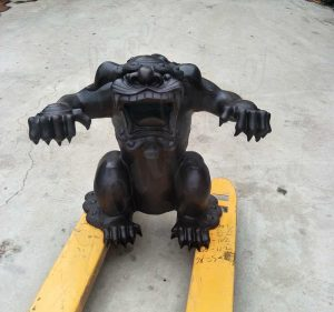 Casting Bronze Monster Sculpture Custom Made for American Customer