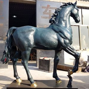 Hot cast bronze standing horse sculpture design for sale BOKK-76
