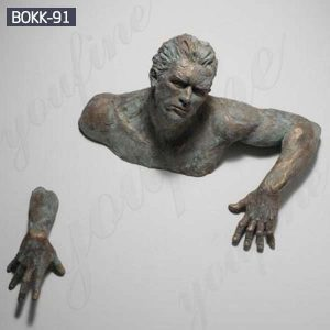 Bronze Matteo Pugliese Sculpture Abstract Man Figure Statue for Sale BOKK-91