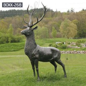 Buy Antique Bronze Stag Statue for Lawn Ornament Online BOKK-268