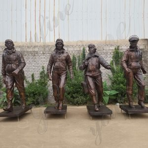 Custom Made Life Size Bronze Statue tuskegee Airmen Statue Monument for Sale BOKK-579