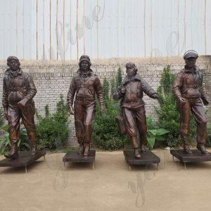 Custom Made Life Size Bronze Statue tuskegee Airmen Statue Monument for Sale BOKK-579