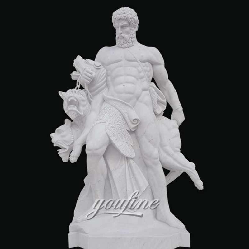The Old Story of Famous Hero Heracles sculpture