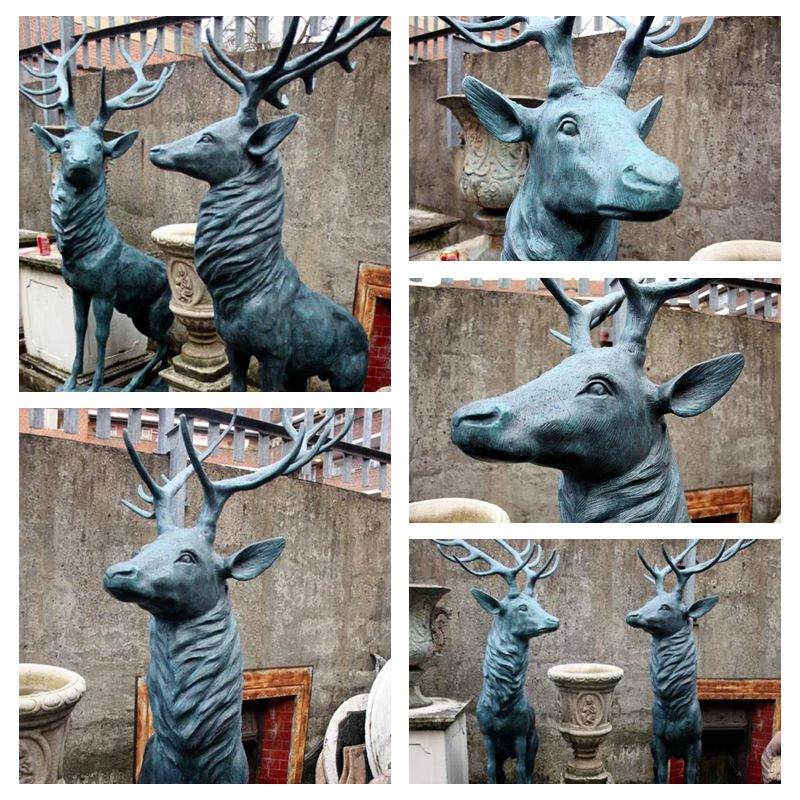 copper life size reindeer statues supplier