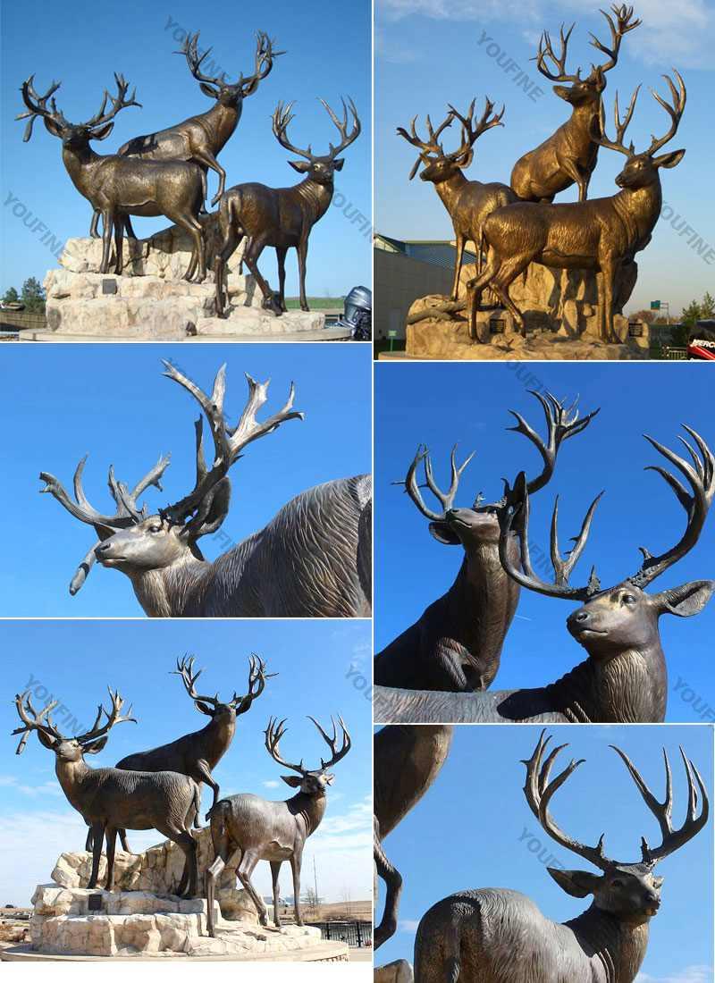 outdoor deer sculptures