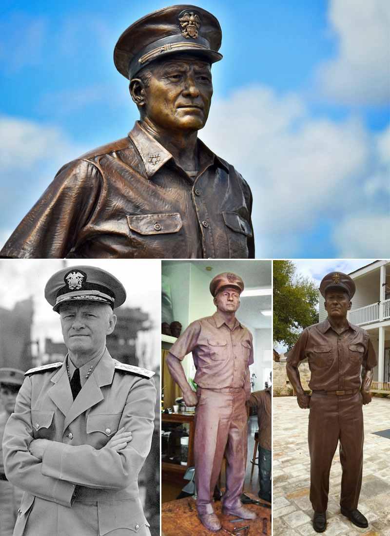 Admiral Nimitz bronze staute