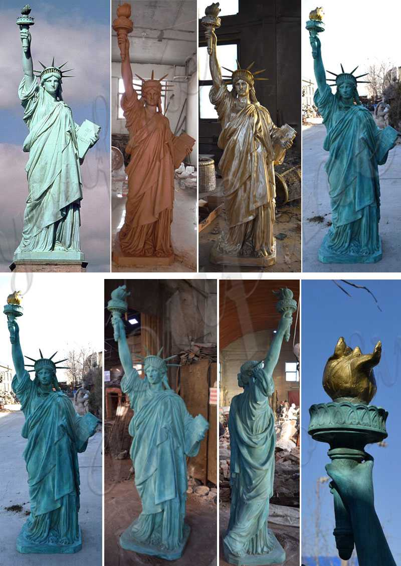 Antique Bronze Statue of Liberty Replica for Sale