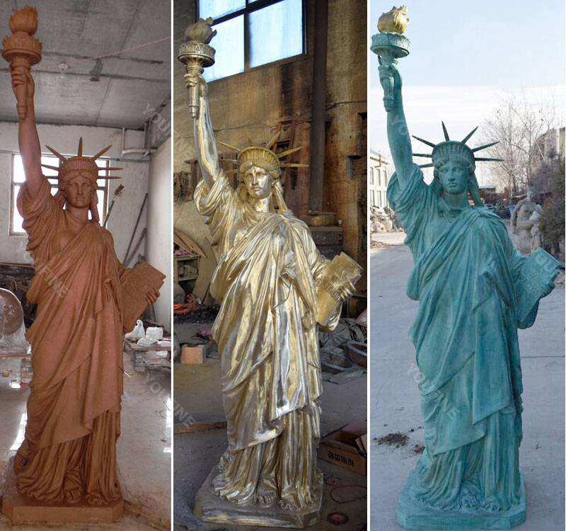 Buy world famous statues replica antique bronze statue of liberty
