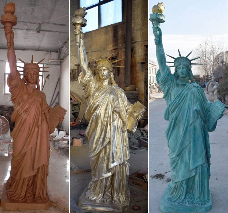 Buy world famous statues replica antique bronze statue of liberty