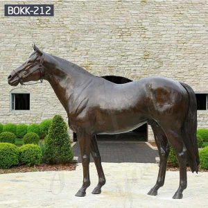 Life Size Antique Bronze Arabian Horse Statue for Sale BOKK-212