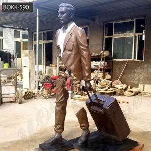 Life Size Bronze Bruno Catalano Traveler Statue for Sale BOKK-590
