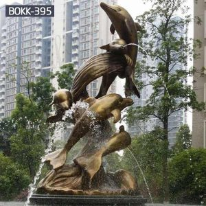 Outdoor Antique Bronze Dolphin Fountain Sculpture for Sale BOKK-395