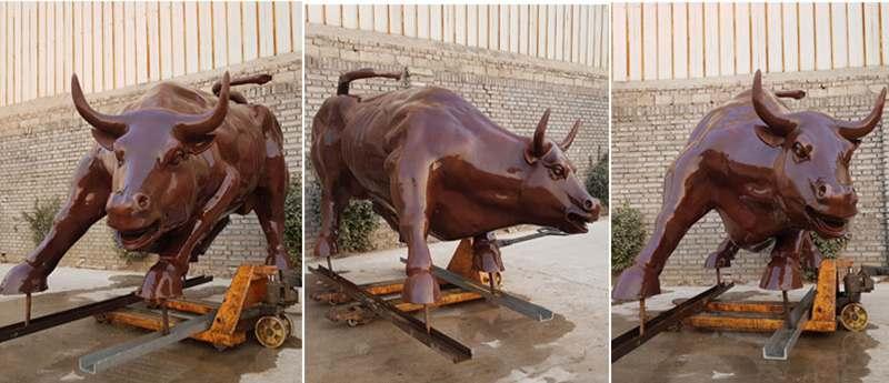 Outdoor Large Bronze Wall Street Bull Statue