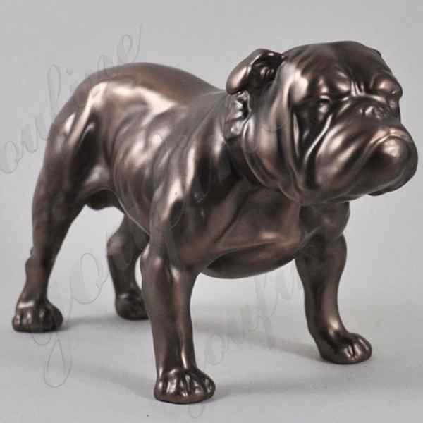 bronze bulldog statues lawn ornament for sale