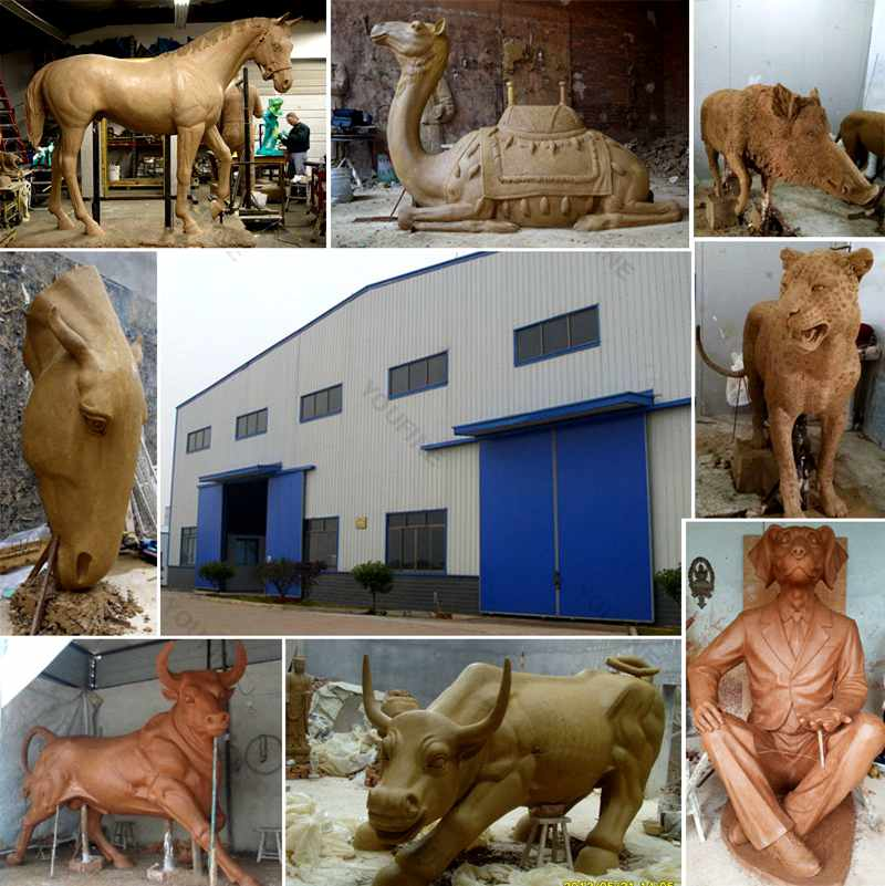 bronze factory display