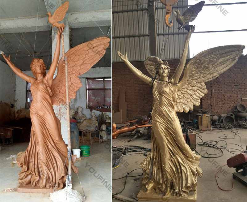 bronze outdoor garden angel statue