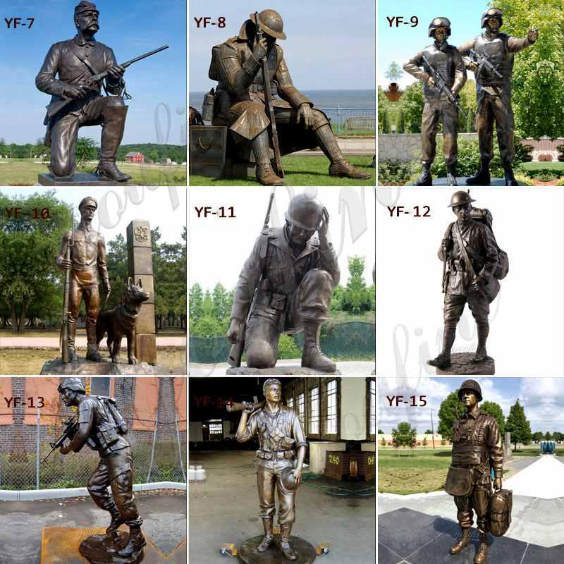 bronze soldier statue designs