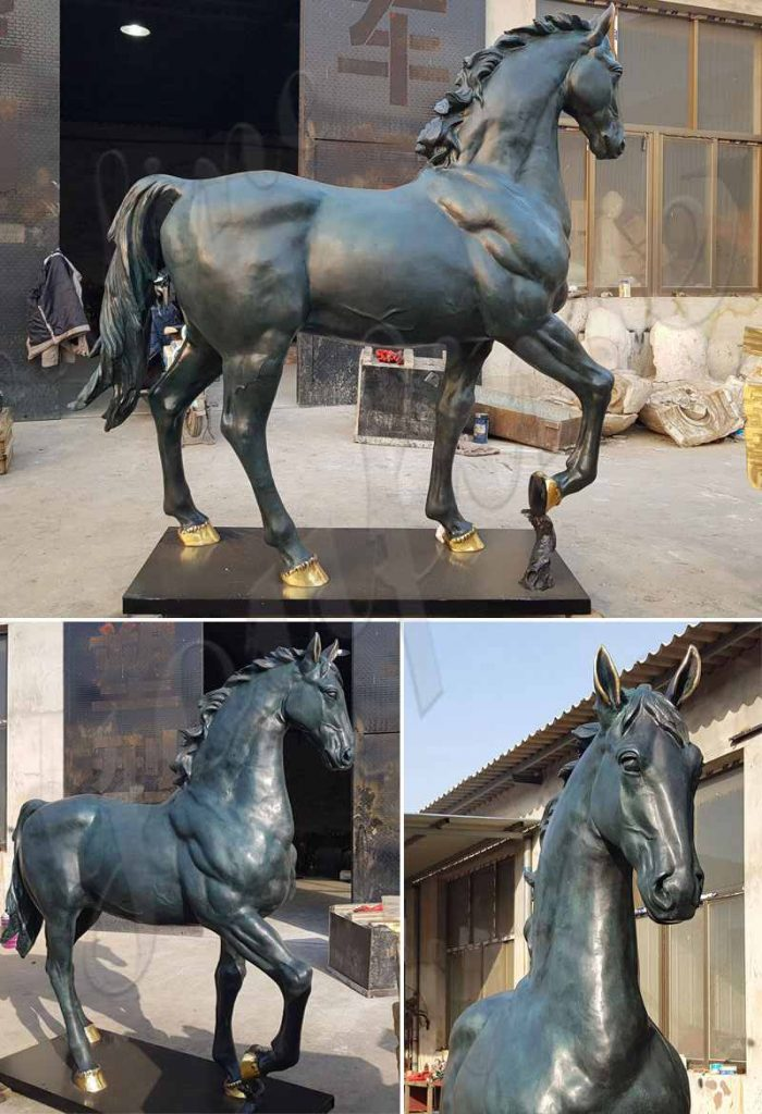life size bronze horse sculpture