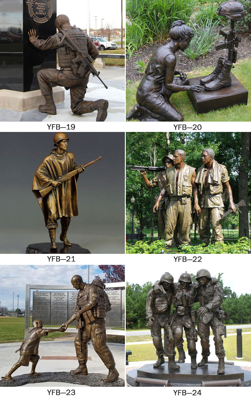 outdoor bronze military statues