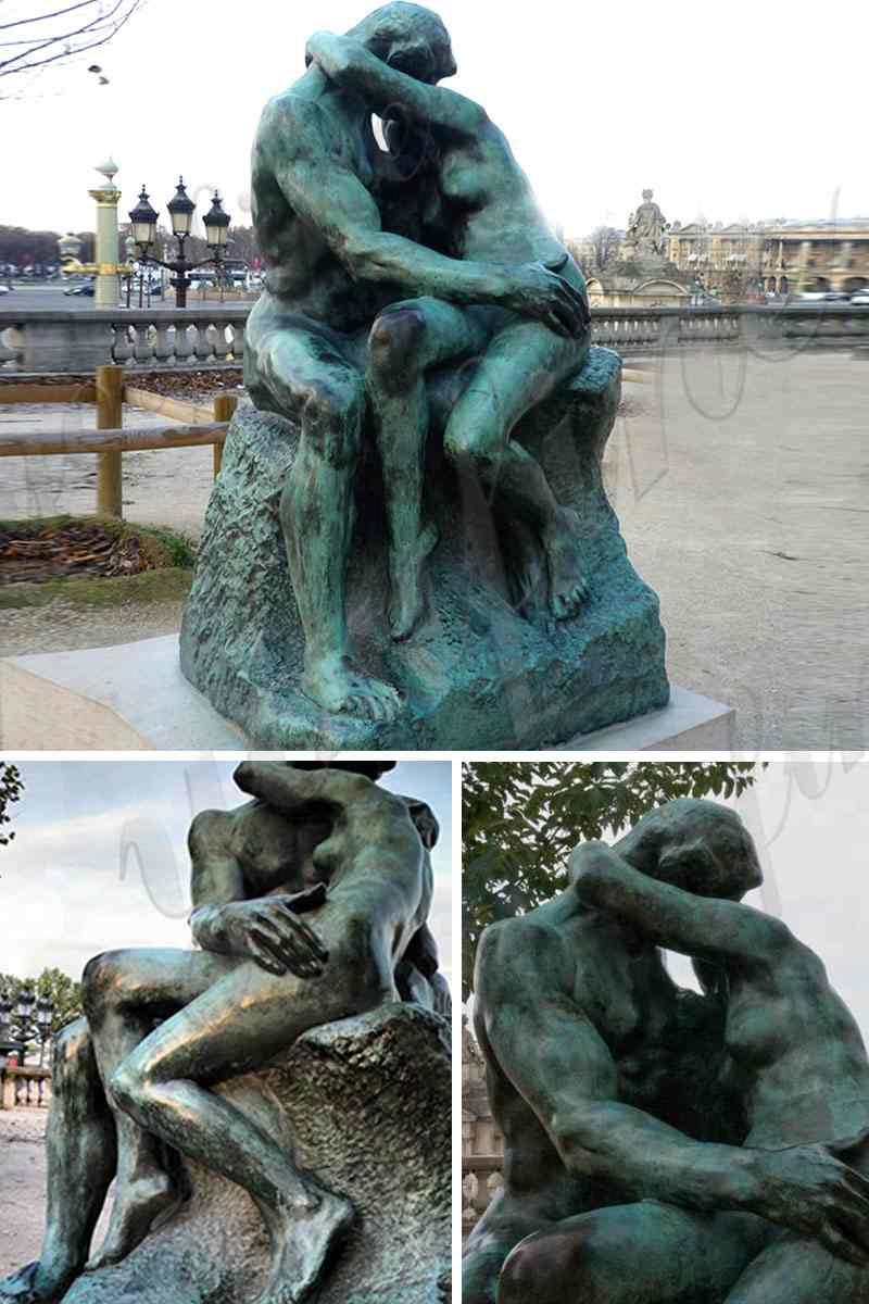 Auguste Rodin's Bronze the Kiss Statue R
