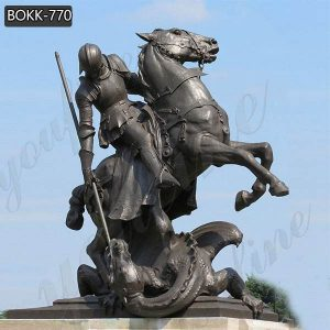 Bronze St. George with Dragon Statue for Outdoor Decor Supplier BOKK-770