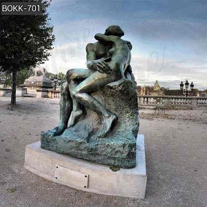 Casting Auguste Rodin's Bronze the Kiss Statue Replica for Sale BOKK-701
