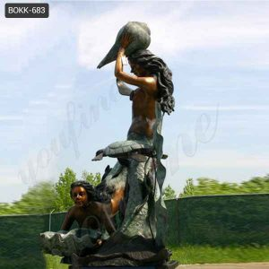 Casting Large Bronze Mermaid Statues for Garden Decor Supplier BOKK-683