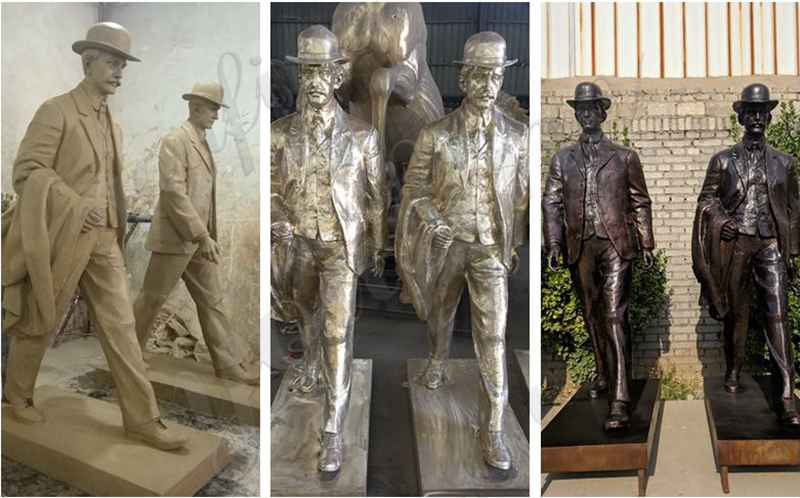 Life Size Bronze Wright Brothers Statue for Sale