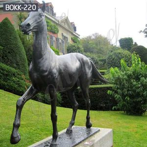 Life Size Outdoor Antique Bronze Horse Sculptures for Sale BOKK-220