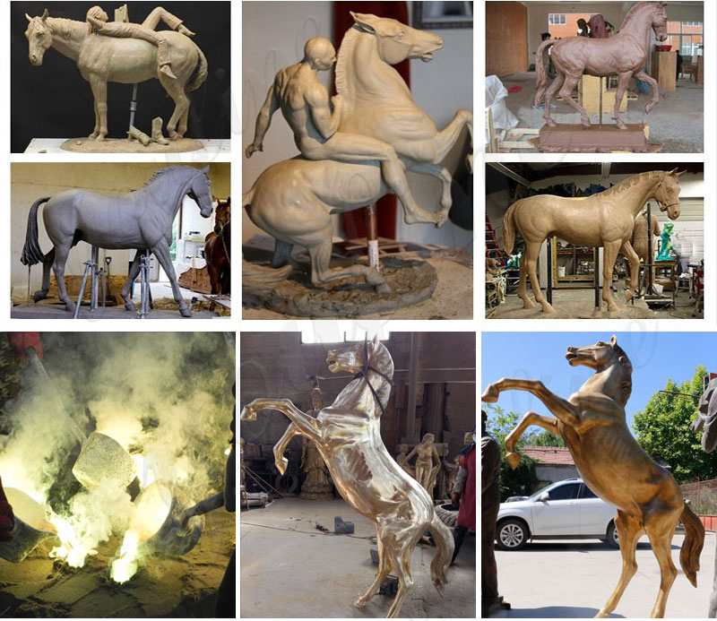 Outdoor Antique Bronze Horse Sculptures for Sale