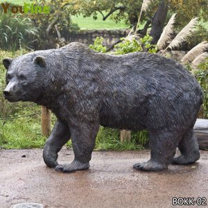 Outdoor Life Size Bronze Bear Statue for Garden Decoration Supplier BOKK-02
