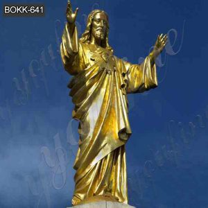 Outdoor Life Size Bronze Sacred Heart of Jesus Statue for Sale BOKK-641