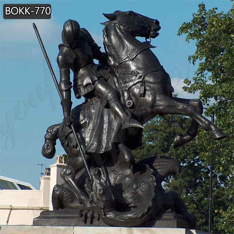 St. George with Dragon Statue for Outdoor Decor Supplier