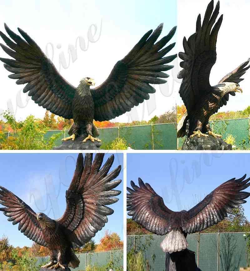 bronze eagle sculptures