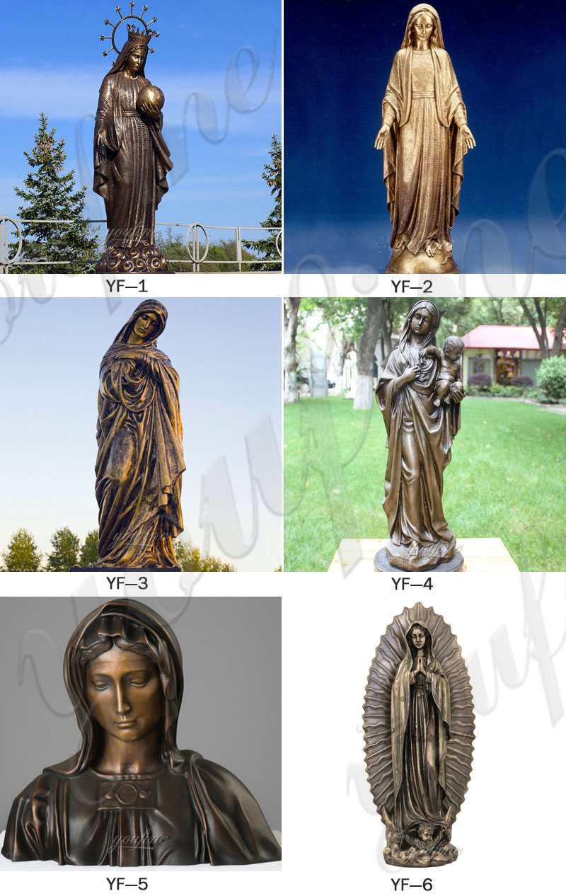 bronze mary outdoor statue