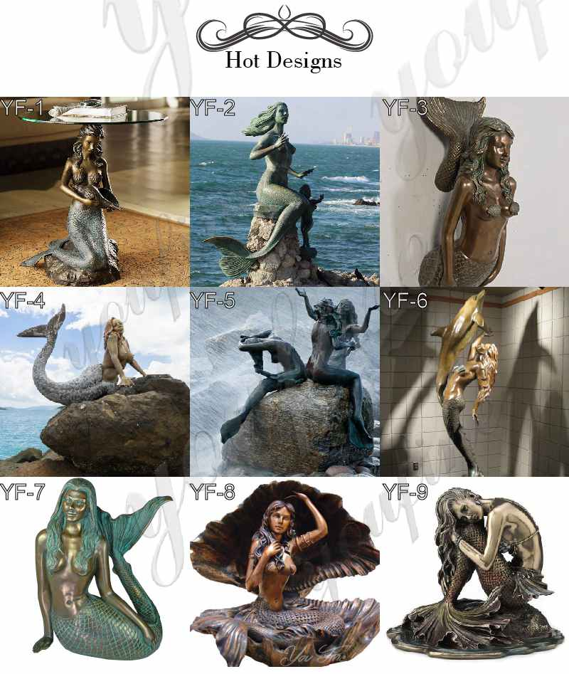 bronze-mermaid-statues for sale