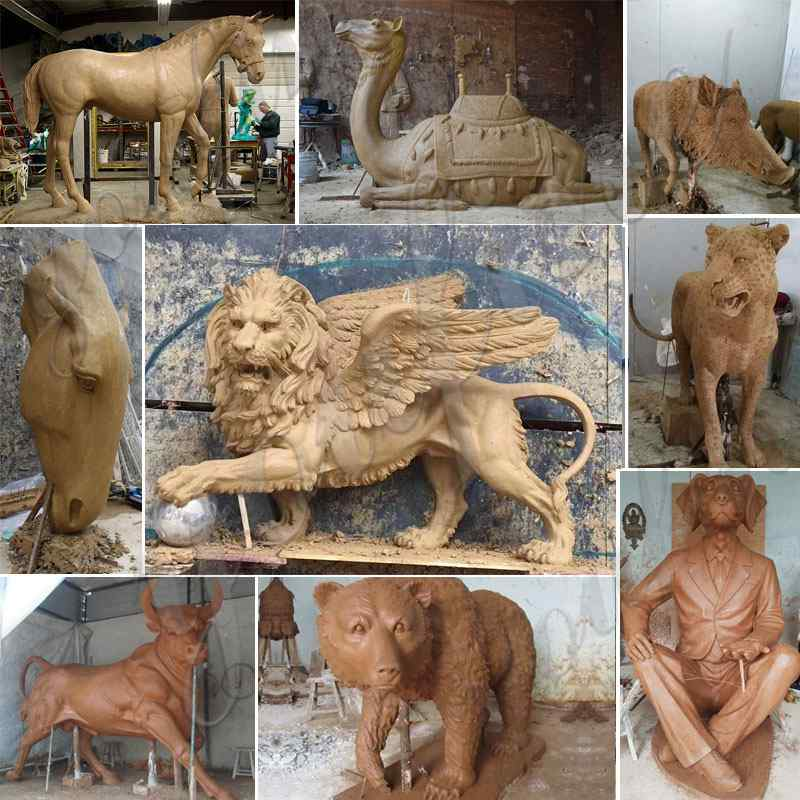 clay model of bronze animal stautes