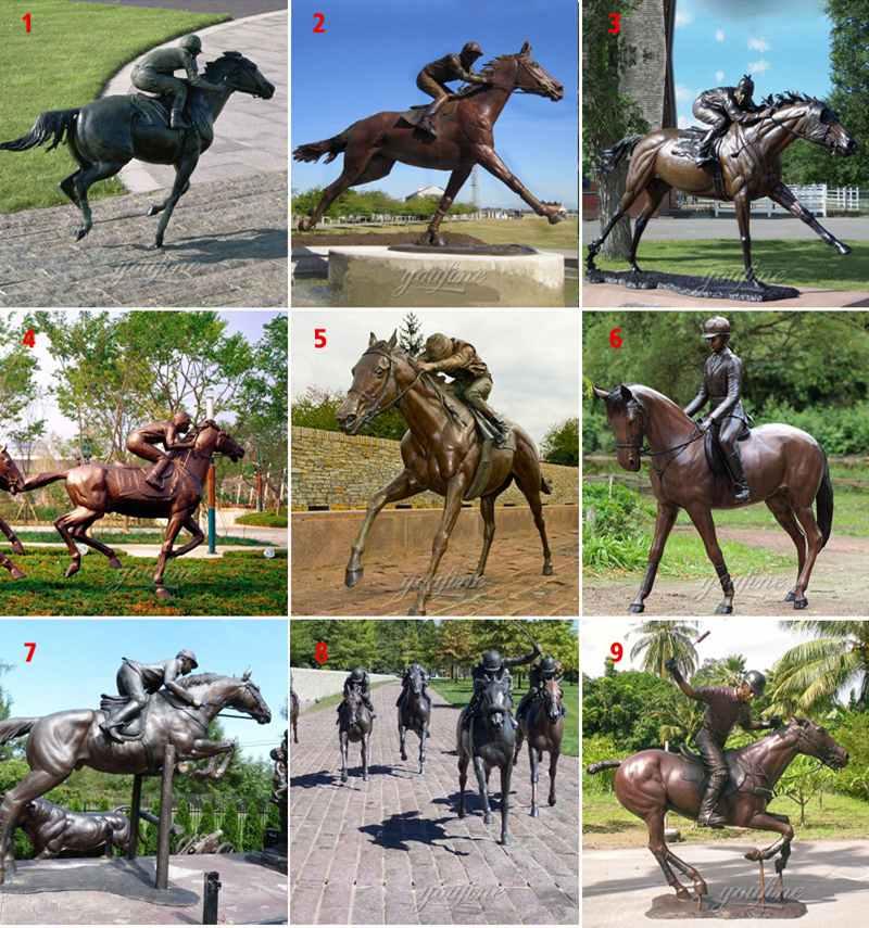 hot cast bronze horses