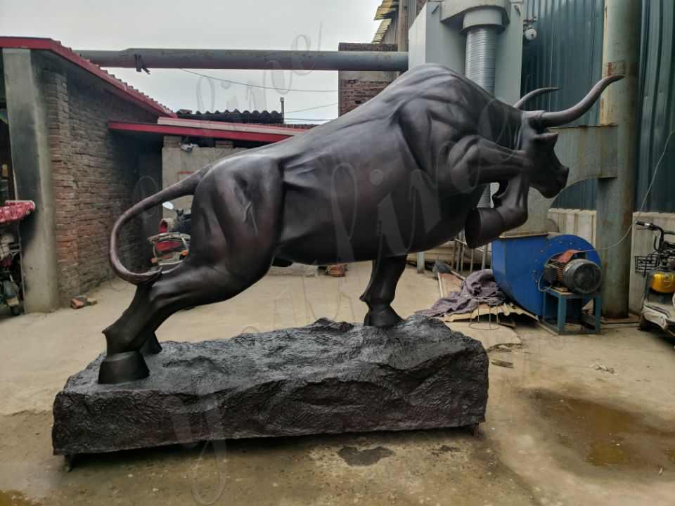 life size bronze bull sculpture