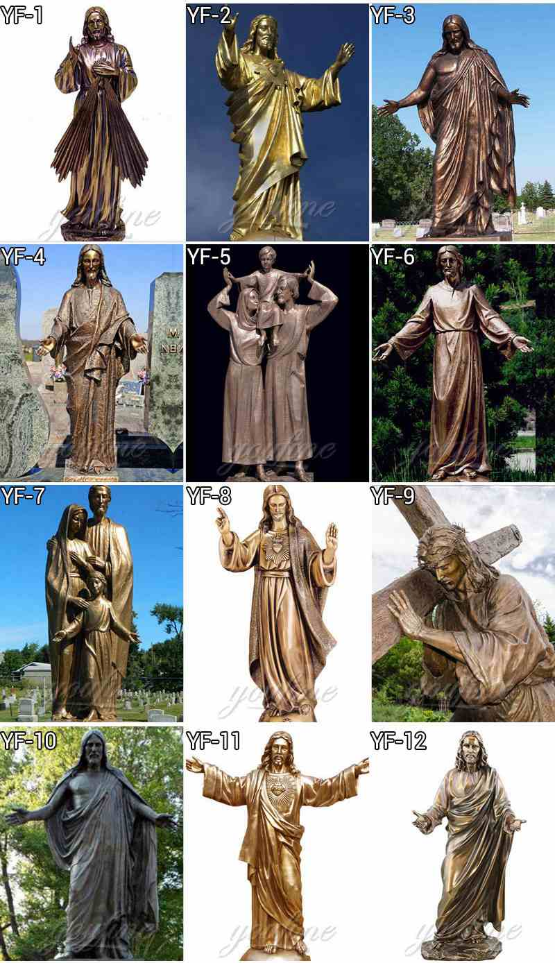 more designs of bronze jesus staute