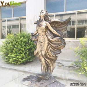 Beautiful Life Size Bronze Flying Female Angel Statue Supplier BOKK-774