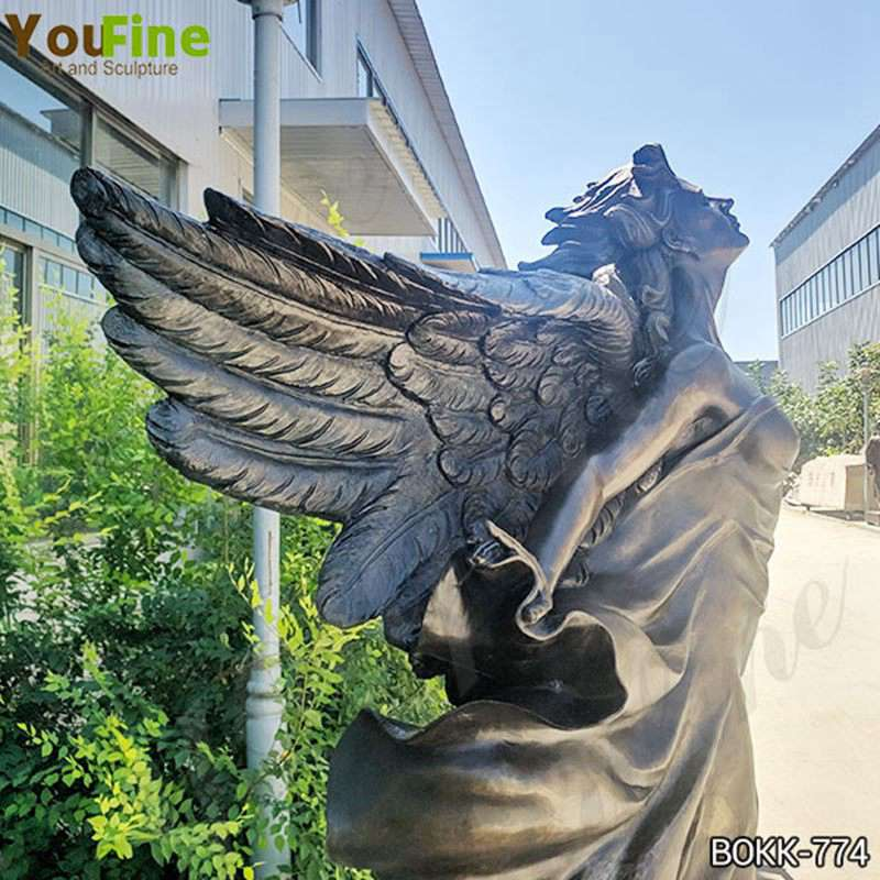 Beautiful Life Size Bronze Flying Female Angel Statue