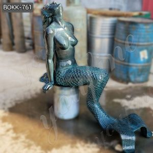 Beautiful Solid Bronze Mermaid Sculpture from Factory Supply BOKK-761