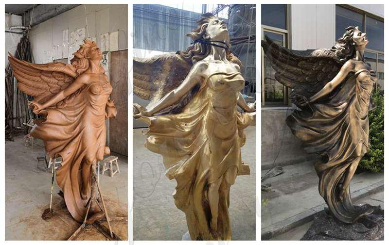 Bronze Flying Female Angel Statue