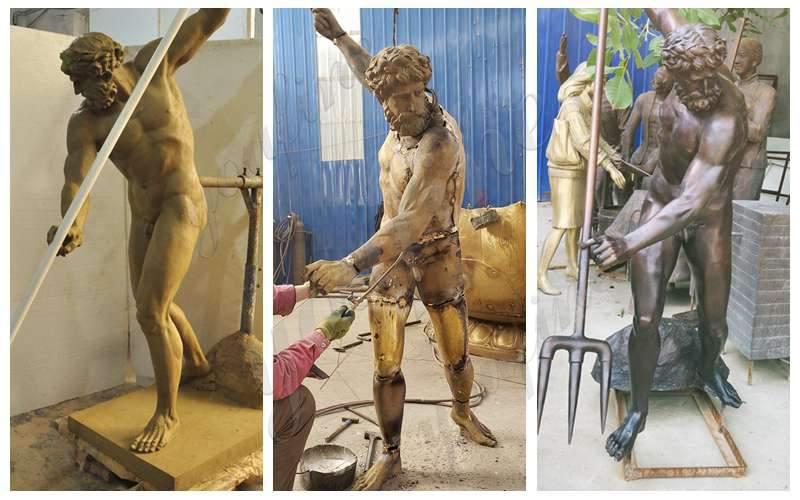 Bronze Life Size Poseidon Statue
