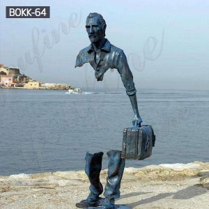 Buy Beautifully Bruno Catalano Bronze Life Size Traveler Statue BOKK-64
