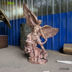 Buy Large Outdoor Bronze Saint Michael Archangel Slaying Demon Statue BOKK-633