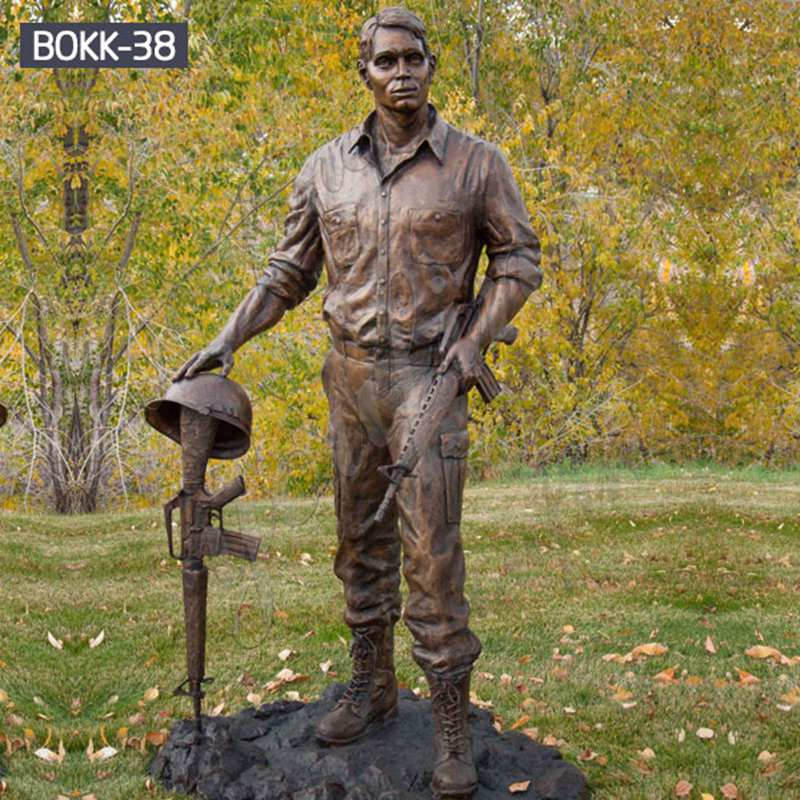 Custom Made Memorial Bronze Vietnam Soldier Statue Supplier