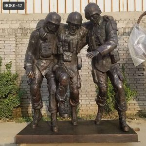 Famous Bronze Outdoor Military No Man Left Behind Statue Replica BOKK-42