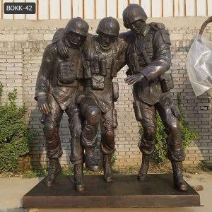 Famous Bronze Outdoor Military No Man Left Behind Statue Replica BOKK-42